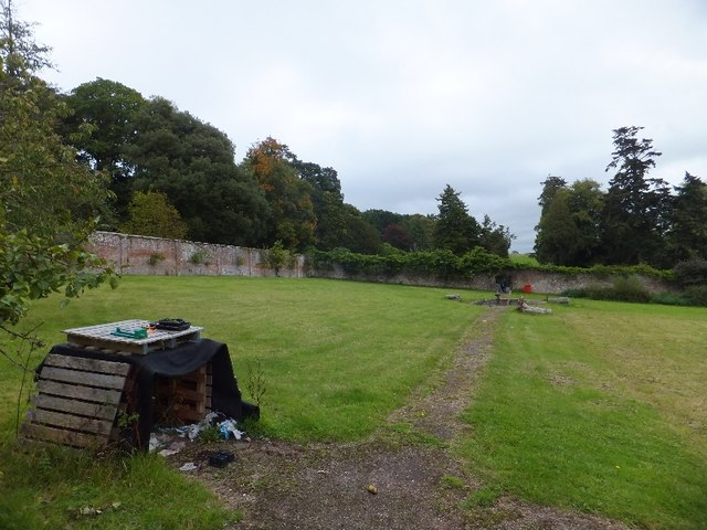 The walled garden of Whiteway House