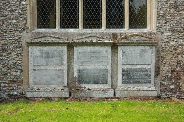 St Peter & St Paul, Heydon - Monuments