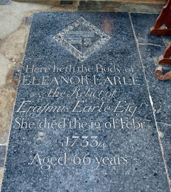 St Peter & St Paul, Heydon - Ledger slab