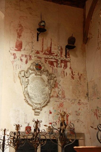 St Peter & St Paul, Heydon - Wall paintings