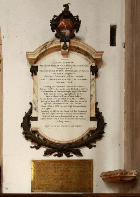 St Peter & St Paul, Heydon - Wall monument