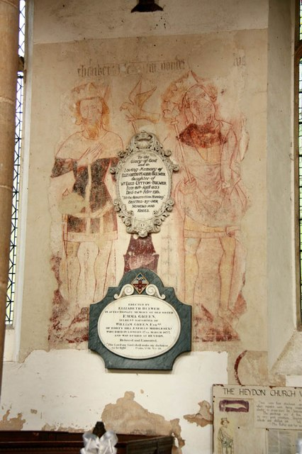 St Peter & St Paul, Heydon - Wall painting