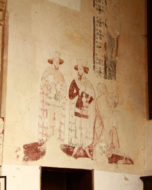 St Peter & St Paul, Heydon - Wall painting