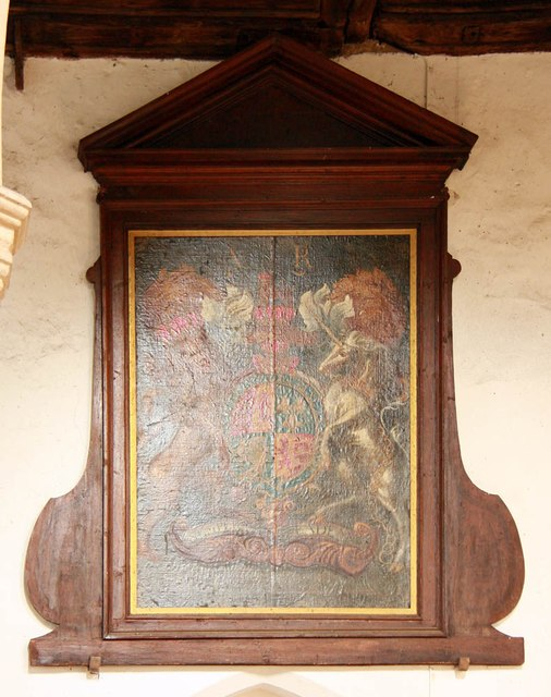 St Peter & St Paul, Heydon - Royal Arms