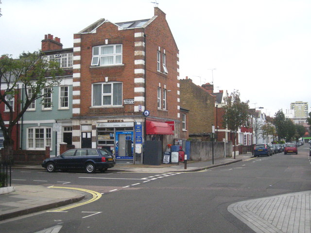A corner shop at the junction of Bedlescombe Road and Tamworth Street in Fulham