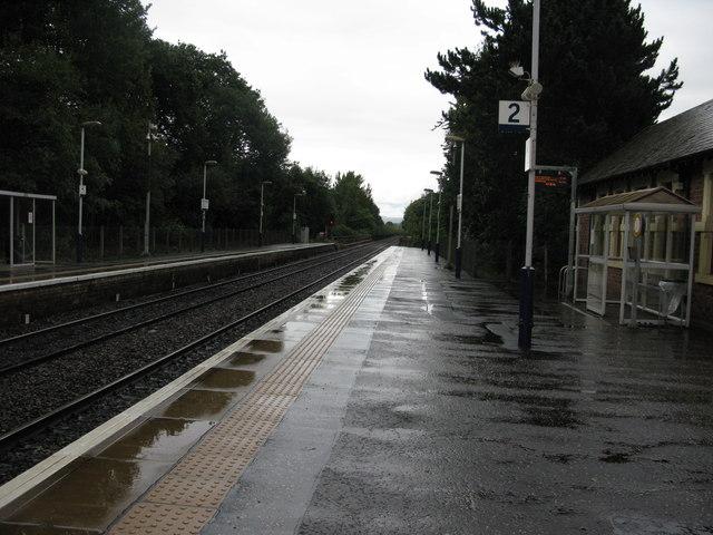 Pollokshaws West railway station, looking North-East