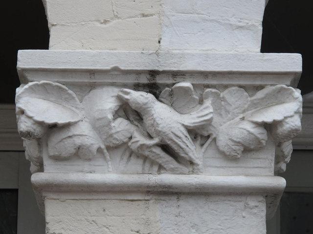 Stone bird on doorway, Chaplin Road, NW2