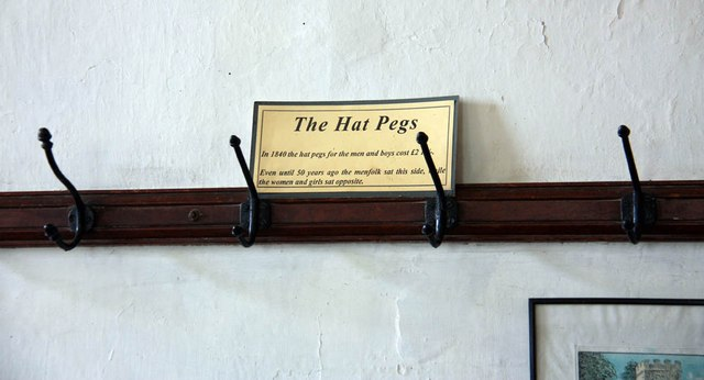 St Andrew, Thurning - Hat pegs