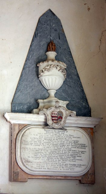 St Andrew, Thurning - Wall monument