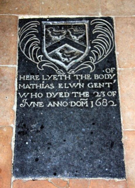 St Andrew, Thurning - Ledger slab