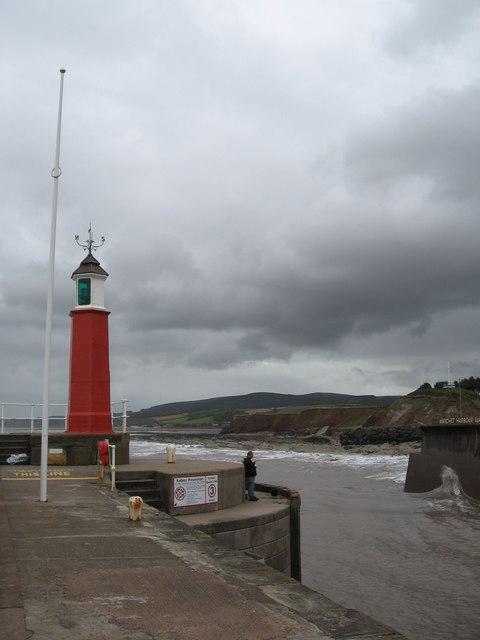 Western pier, Watchet harbour