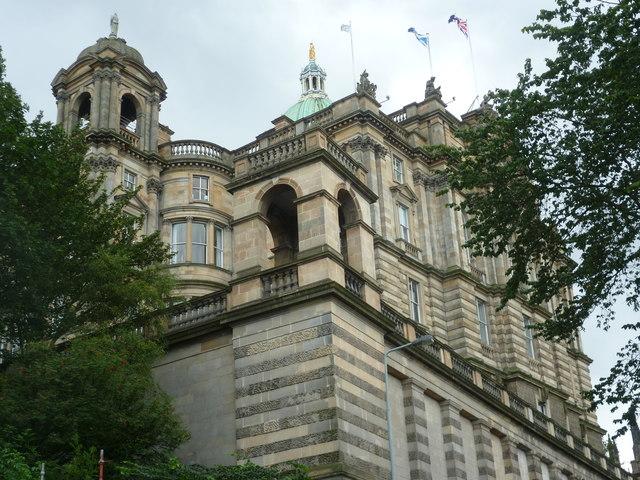 Bank of Scotland Head Office from Market Street