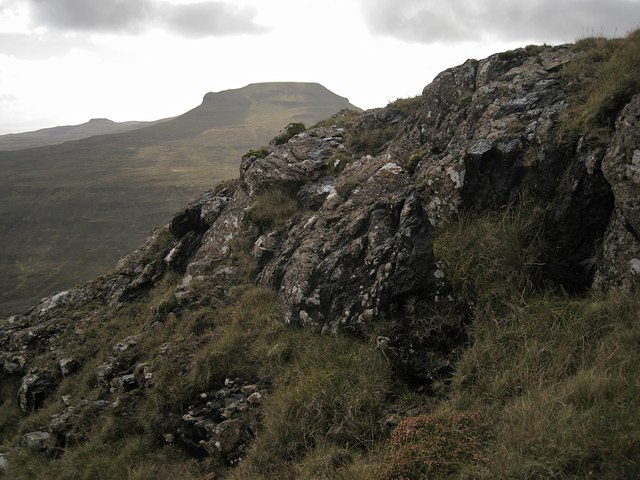 Rock outcrop on Healabhal Mhòr