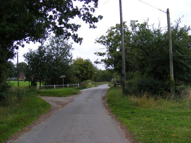 Framsden Road junction