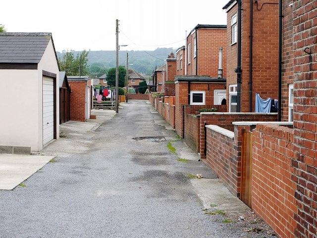Back lane, Lister Terrace, Wolsingham