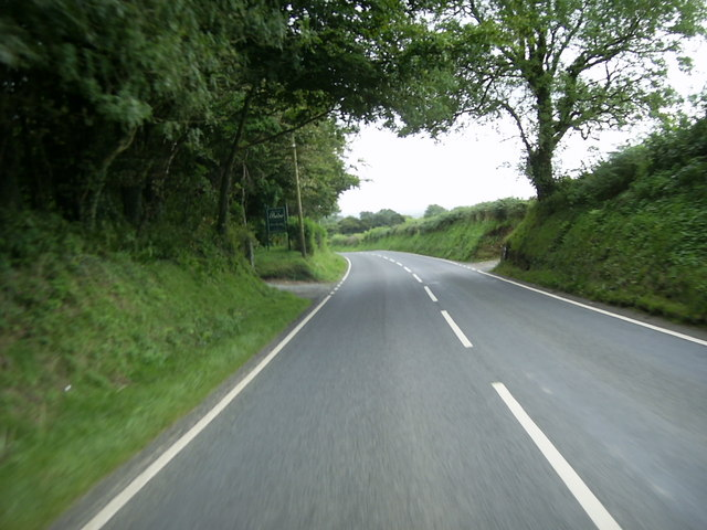 A478 between Efailwen and Llandissilio