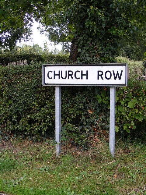Church Row sign