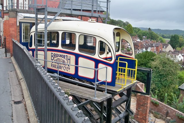 Castle Hill Cliff Railway -Bridgnorth