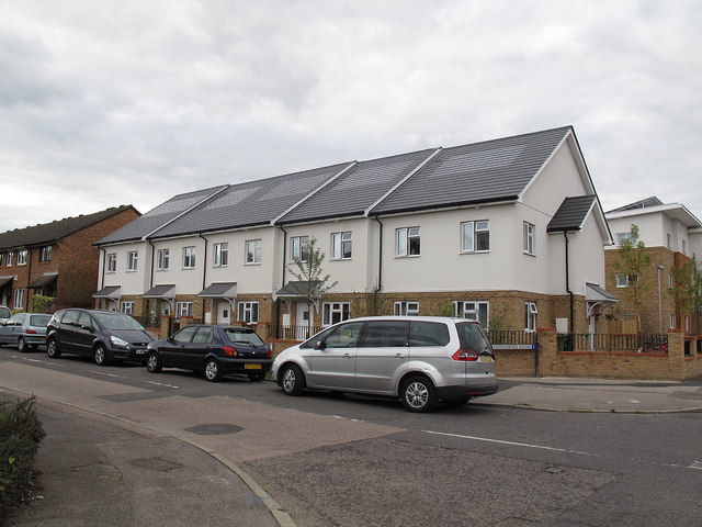 Solar tiles on house roofs