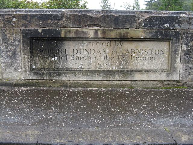 Inscription on Braidwood Bridge