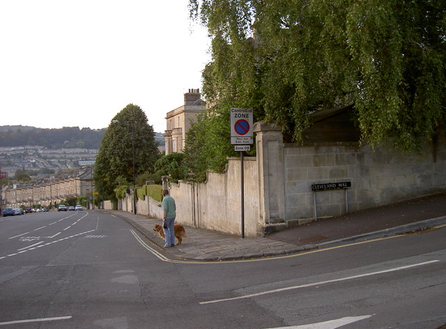 Junction of Bathwick Hill and Cleveland Walk