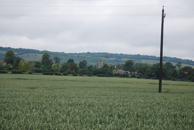 View to Birling Church