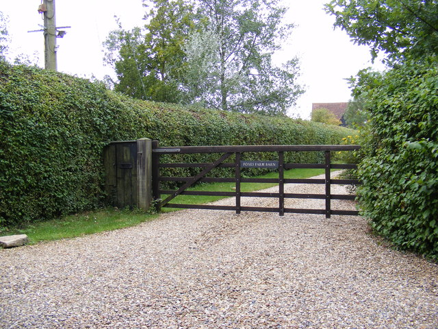 The Entrance to Foxes Farm Barn