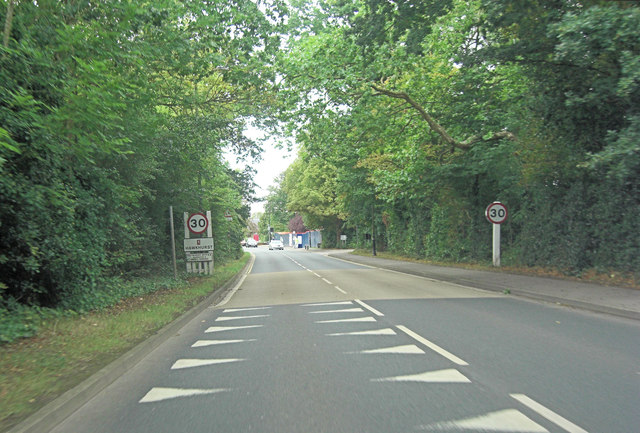 A268 enters Hawkhurst