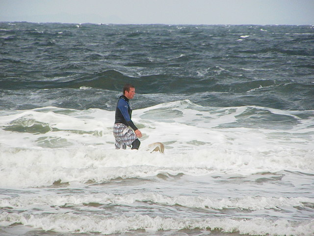 Surfing Machrihanish