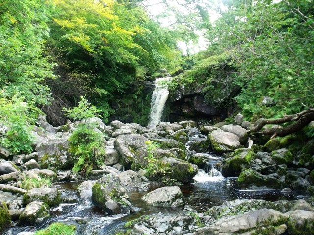 Campsie Fells, waterfall on Kirk Burn [3]