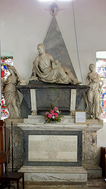 Thomas Archer memorial - St Mary's church, Hale (1)
