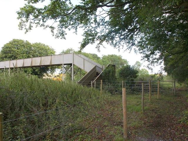Footbridge near Patney