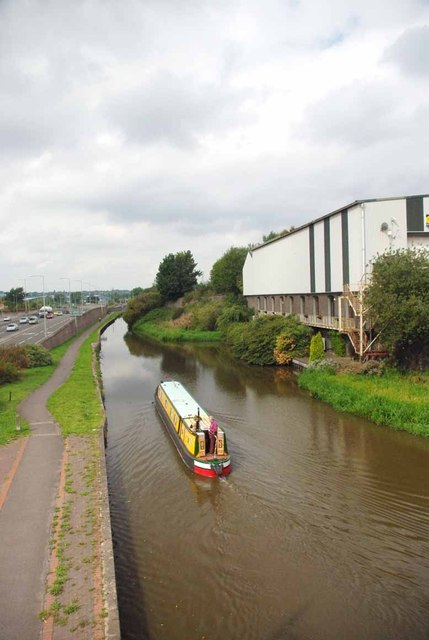 Narrowboat on the Trent & Mersey