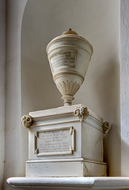 Joseph May memorial - St Mary's church, Hale (3)