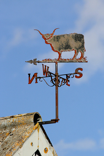 The weather vane at Paxton South Mains Farm