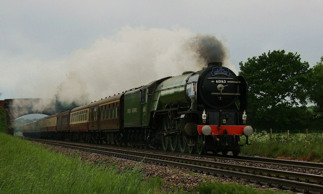 Steam train at Sharcott, Wiltshire.