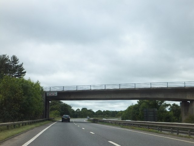B3193 bridge over A38