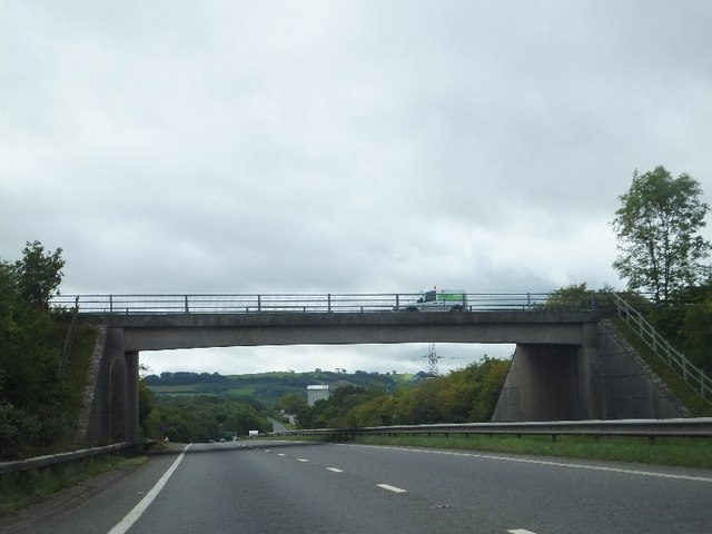 B3344 (Clay Lane) bridge over A38