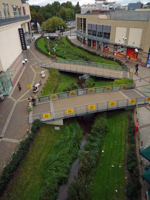 River Gade flows through new shopping development