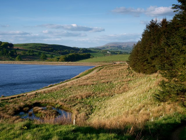 View from the footpath leading to Dean Reservoir