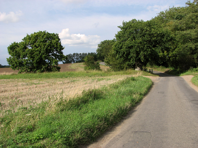 Approaching the unbridged ford on Brown's Lane, Holme Hale