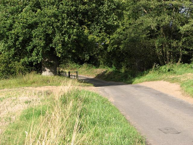 Unbridged ford on Brown's Lane, Holme Hale