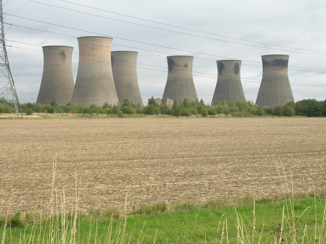 Farmland and cooling towers off Royalty Lane