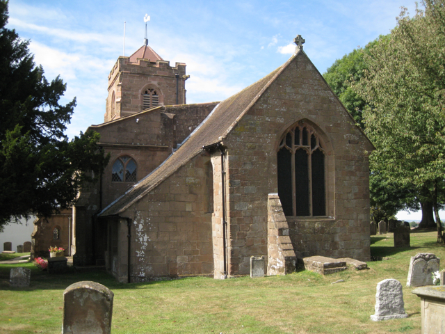Church of St Lawrence, old Meriden