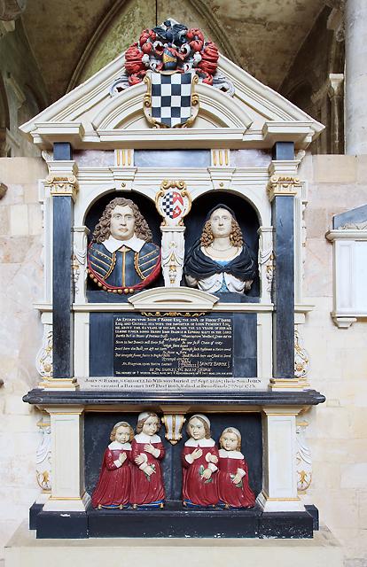John St Barbe memorial - Romsey Abbey