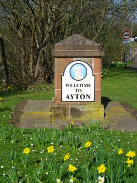 Village sign, Ayton