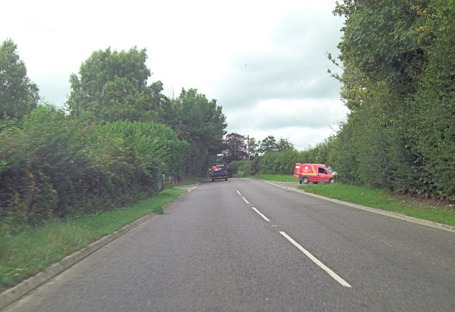 A268 approaches junction with Delmonden Road