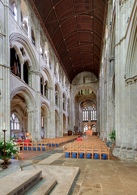Romsey Abbey - the nave