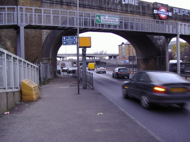 Northern Line bridge over the North Circular, Golders Green