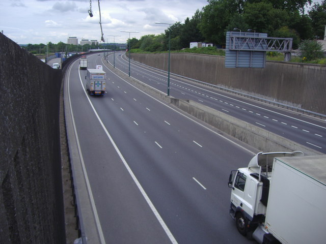 The M1 from Station Road, Hendon